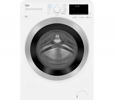 Save £100 at Currys on BEKO WDEX8540430W Bluetooth 8 kg Washer Dryer - White, White