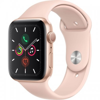 Save £70 at AO on Apple Watch Series 5, 44mm, GPS [2019] - Gold Aluminium Case with Pink Sand Sport Band