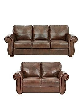 Save £170 at Very on Cassina Italian Leather 3 Seater + 2 Seater Sofa Set (Buy And Save!)