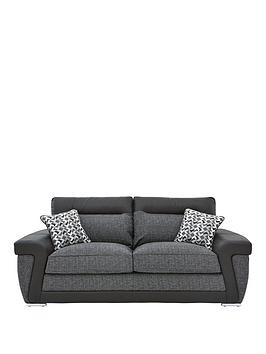 Save £75 at Very on Geo Fabric And Faux Leather 3-Seater Sofa