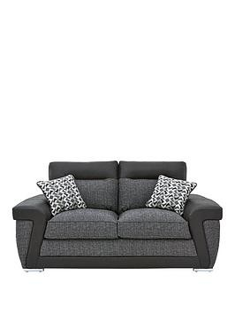 Save £70 at Very on Geo Fabric And Faux Leather 2-Seater Sofa