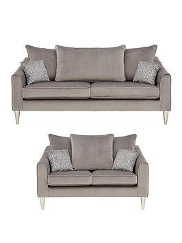 Save £100 at Very on Laurence Llewelyn-Bowen Apollo Fabric 3 Seater + 2 Seater Scatter Back Sofa Set (Buy And Save!)