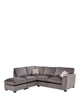 Save £85 at Very on Odion Fabric Left Hand Corner Chaise Standard Back Sofa With Footstool