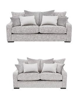 Save £150 at Very on Michelle Keegan Home Mirage 3-Seater + 2-Seater Fabric Sofa Set (Buy And Save!)