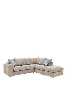 Save £120 at Very on Cavendish Sophia Fabric Right Hand Corner Chaise Sofa And Footstool