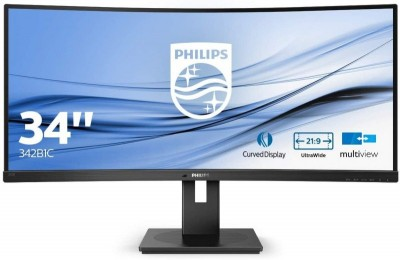 Save £60 at Ebuyer on Philips 342B1C 34'' VA LED Curved Monitor