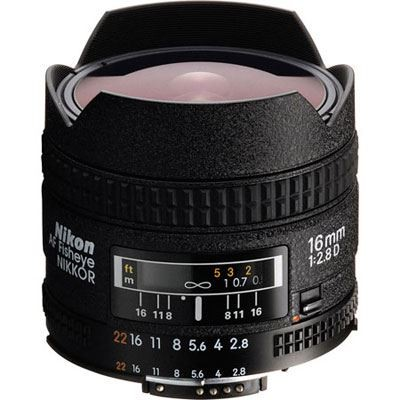 Save £77 at WEX Photo Video on Nikon 16mm f2.8 D AF Fisheye Lens