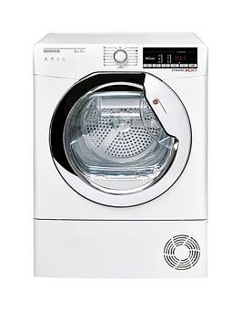 Save £50 at Very on Hoover Dynamic Next Dxoh9A2Tce 9Kg Load, Aquavision, Heat Pump Tumble Dryer With One Touch - White/Chrome