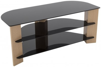 Save £21 at Argos on AVF Up To 55 Inch TV Stand - Black Glass and Oak Effe