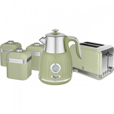 Save £10 at AO on Swan Retro STRP3021GN Kettle And Toaster Sets - Green