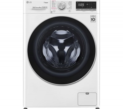 Save £170 at Currys on LG AI DD V5 F4V508WS WiFi-enabled 8 kg 1400 Spin Washing Machine - White, White