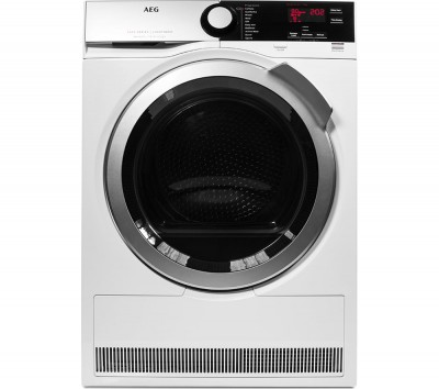 Save £120 at Currys on AEG Tumble Dryer SensiDry T7DEE835R Heat Pump Condenser - White, White