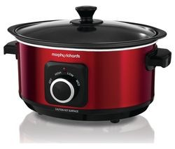 Save £6 at Currys on MORPHY RICHARDS Evoke Sear & Stew 460014 Slow Cooker - Red