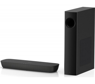Save £17 at Currys on PANASONIC HTB258 2.1 Wireless Compact Sound Bar, Gold