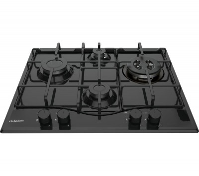 Save £40 at Currys on HOTPOINT PCN 642 T/H(BK) Gas Hob - Black, Black