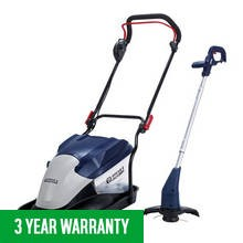 Premium Twin Pack 35Cm 1700W Hover Mower And 320W 25Cm Grass Trimmer