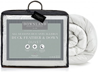 Save £20 at Argos on Downland Duck Feather Down All Seasons 15 Tog Duvet S.King