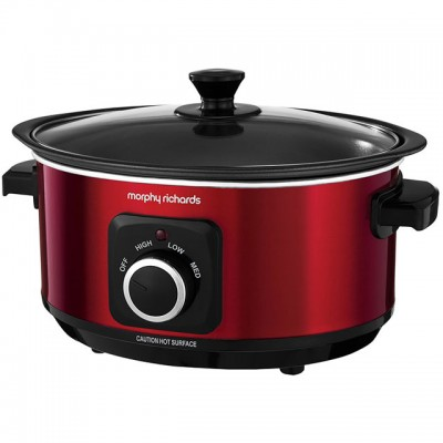 Save £6 at AO on Morphy Richards Evoke Sear And Stew 460014 3.5 Litre Slow Cooker - Red