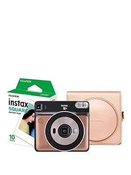 Save £48 at Very on Fujifilm Instax Instax Sq6 Instant Camera With 10 Shots And A Blush Gold Case