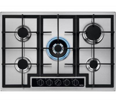 Save £60 at Currys on AEG HGB75420YM Gas Hob - Stainless Steel, Stainless Steel