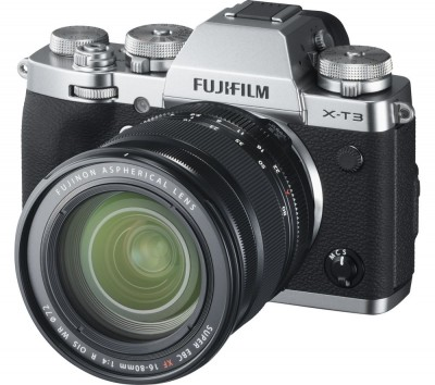Save £250 at Currys on FUJIFILM X-T3 Mirrorless Camera with FUJINON XF 16-80 mm f/4 R OIS WR Lens - Silver, Silver