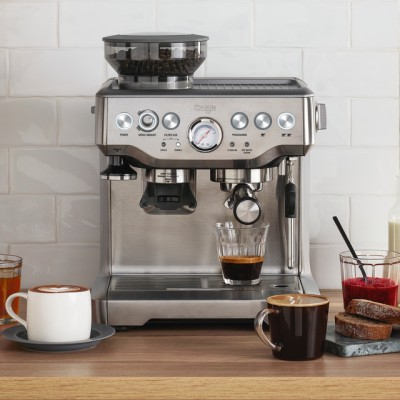 Save £150 at AO on Sage The Barista Express BES875UK Espresso Coffee Machine with Integrated Burr Grinder - Brushed Steel