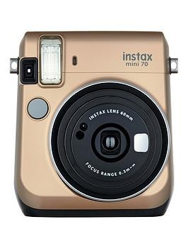 Save £20 at Very on Fujifilm Instax Instax Mini 70 Instant Camera With 10 Or 30 Pack Of Paper - Gold - Instant Camera With 30 Pack Of Film