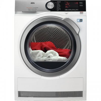 Save £100 at AO on AEG T9DEC866R 8Kg Heat Pump Tumble Dryer - Stainless Steel - A+++ Rated