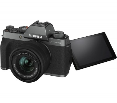 Save £200 at Currys on FUJIFILM X-T200 Mirrorless Camera with FUJINON XC 15-45 mm f/3.5-5.6 OIS PZ Lens - Dark Silver, Silver