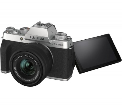 Save £200 at Currys on FUJIFILM X-T200 Mirrorless Camera with FUJINON XC 15-45 mm f/3.5-5.6 OIS PZ Lens - Silver, Silver