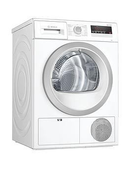 Save £190 at Very on Bosch Wtn85201Gb 7Kg Load, Heat Pump Tumble Dryer - White / Silver Door