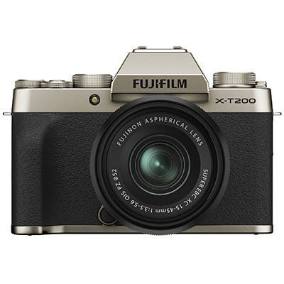 Save £200 at WEX Photo Video on Fujifilm X-T200 Digital Camera with XC 15-45mm Lens - Champagne Gold