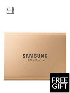 Save £10 at Very on Samsung SSD Ext 500GB T5 Rose Gold USB3.1 Gen2 USB-C