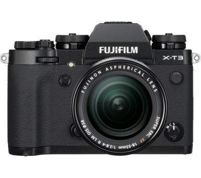 Save £350 at Currys on FUJIFILM X-T3 Mirrorless Camera with FUJINON XF 18-55 mm f/2.8-4 R LM OIS Lens - Black, Black