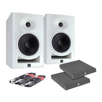 Save £45 at Scan on KALI LP-6 White Monitor Speakers, Adam Hall Iso Pads and Leads Bundle