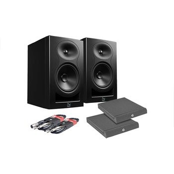 Save £45 at Scan on KALI LP-6 Black Monitor Speakers, Adam Hall Iso Pads and Leads Bundle
