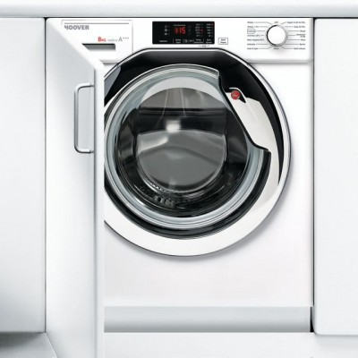 Save £80 at AO on Hoover H-WASH 300 HBWM814DC Integrated 8Kg Washing Machine with 1400 rpm - White / Chrome - A+++ Rated