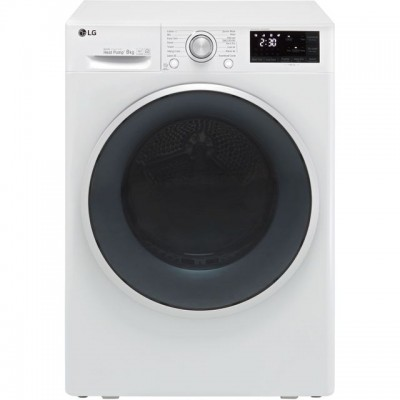 Save £130 at AO on LG J6 FDJ608W Wifi Connected 8Kg Heat Pump Tumble Dryer - White - A+++ Rated