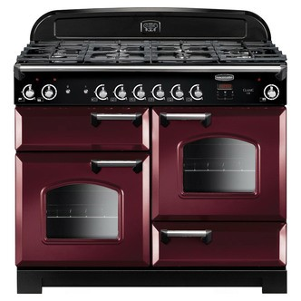 Save £350 at Sonic Direct on Rangemaster 116680 110cm CLASSIC Gas Range Cooker Cranberry Chrome Tri