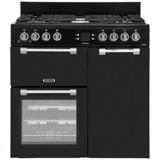 Save £110 at AO on Leisure Cookmaster CK90G232K 90cm Gas Range Cooker with Electric Fan Oven - Black - A+/A Rated
