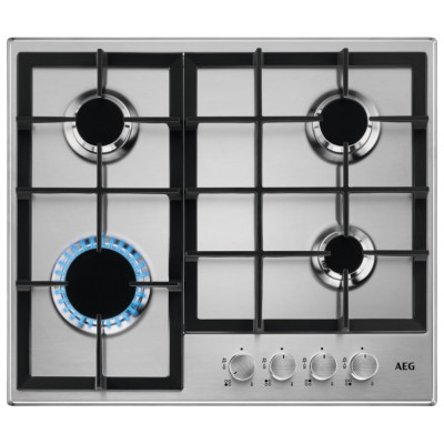 Save £40 at Appliance City on AEG HGB64200SM 60cm 4 Burner Gas Hob - STAINLESS STEEL