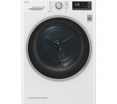 Save £100 at Currys on LG FDJ608W WiFi-enabled 8 kg Heat Pump Tumble Dryer - White, White