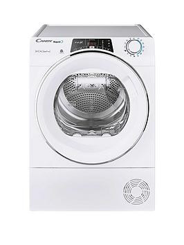 Save £50 at Very on Candy Rapido Roh9A2Tce, 9Kg Load, Heat Pump Tumble Dryer - White / Chrome