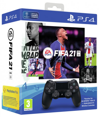 Save £195 at Argos on Sony PS4 Dualshock 4 Controller and FIFA 21 PS4 Game Bundle