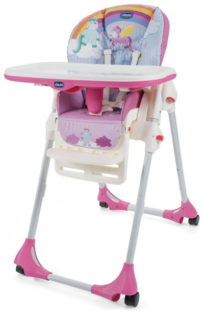Save £10 at Argos on Chicco Polly Easy 4 Wheel Highchair - Unicorn