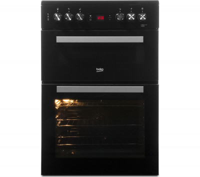 Save £40 at Currys on BEKO XDC653K 60 cm Electric Ceramic Cooker - Black & Silver, Black