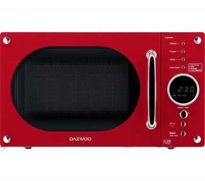 Save £10 at Currys on DAEWOO Retro KOR8A9RR Solo Microwave - Red, Red