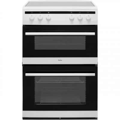 Save £103 at AO on Amica AFC6520WH 60cm Electric Cooker with Ceramic Hob - White - A/A Rated