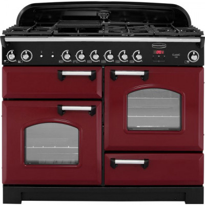 Save £550 at AO on Rangemaster Classic CLA110NGFCY/C 110cm Gas Range Cooker - Cranberry / Chrome - A+/A+ Rated