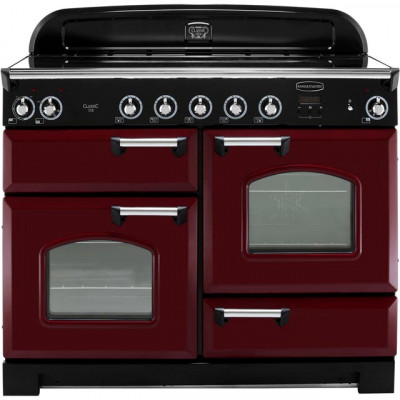 Save £380 at AO on Rangemaster Classic CLA110EICY/C 110cm Electric Range Cooker with Induction Hob - Cranberry / Chrome - A/A Rated